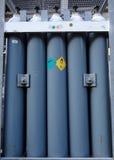 Acción de cilindros azules Imagen de archivo