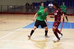 Acción de Futsal Fotografía de archivo libre de regalías