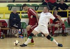 Acción de Futsal Foto de archivo libre de regalías