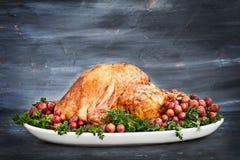 Acción de gracias asada deliciosa Turquía Fotografía de archivo libre de regalías