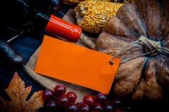 Acción de gracias en la estación del otoño Imagen de archivo libre de regalías