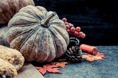 Acción de gracias en la estación del otoño Imagenes de archivo