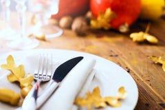 Acción de gracias feliz del arte; gracias que dan la cena Fotos de archivo