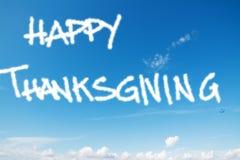 Acción de gracias feliz en el cielo Imagen de archivo libre de regalías