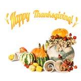 ¡Acción de gracias feliz! Tarjeta de felicitación Fotografía de archivo libre de regalías