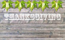 Acción de gracias feliz, viejo fondo de madera del piso Imágenes de archivo libres de regalías