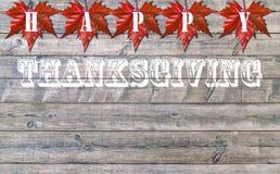 Acción de gracias feliz, viejo fondo de madera del piso Fotos de archivo