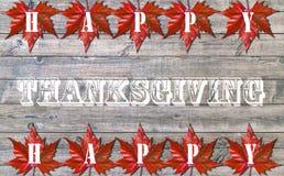 Acción de gracias feliz, viejo fondo de madera del piso Imagenes de archivo