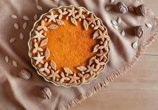 Acción de gracias hecha en casa tradicional de la empanada de la patata dulce Foto de archivo