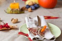 Acción de gracias que cena el lugar Fotografía de archivo libre de regalías