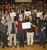 Acción de grupo en apoyo de mujeres en Irán Foto de archivo