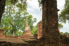 Acción de ida y vuelta Tailandia julio de 2017 - Ayutthaya - Wat Phra Sri Sanpet Foto de archivo