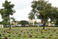 Acción de ida y vuelta Tailandia julio de 2017 - el cementery de los héroes alió el combate f Foto de archivo