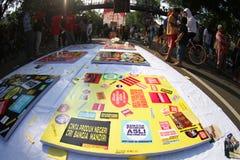Acción de Indonesia del amor Imagen de archivo libre de regalías