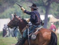 Acción de la caballería Fotografía de archivo libre de regalías