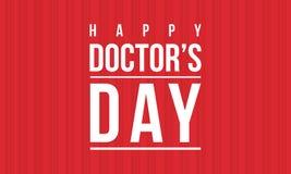 Acción de la colección de la tarjeta de la celebración del día del doctor stock de ilustración