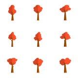 Acción de la colección del árbol rojo stock de ilustración