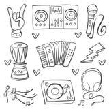 Acción de la colección del arte del vector del instrumento musical ilustración del vector