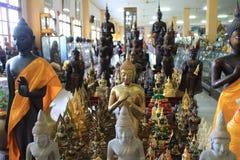 Acción de la estatua de Buda Foto de archivo