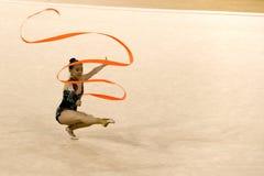 Acción de la gimnasia Imagen de archivo libre de regalías