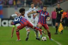 Acción de la liga de campeones de UEFA Fotos de archivo
