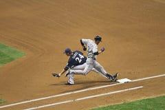 Acción de la Liga Nacional de Béisbol Fotos de archivo