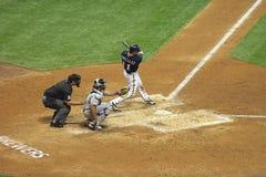 Acción de la Liga Nacional de Béisbol Imagenes de archivo