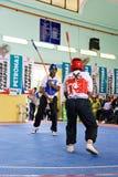 Acción de la lucha del palillo (Silambam) Fotografía de archivo libre de regalías