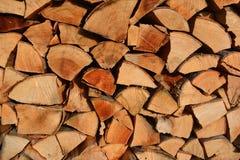 Acción de la madera del fuego Foto de archivo libre de regalías