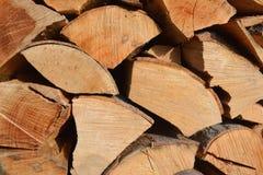 Acción de la madera del fuego Fotografía de archivo libre de regalías