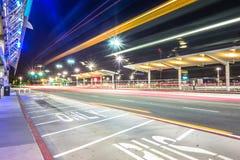 acción de la madrugada en el airpor del international de San Jose California Imagen de archivo libre de regalías