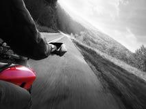 Acción de la motocicleta Imagenes de archivo