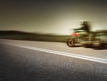 Acción de la motocicleta Foto de archivo