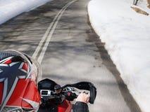 Acción de la motocicleta Fotografía de archivo libre de regalías