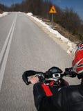 Acción de la motocicleta Imagen de archivo libre de regalías