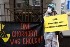 Acción de la organización ambiental Greenpeace Foto de archivo libre de regalías