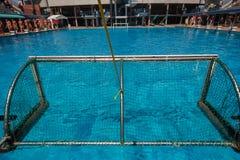 Acción de la piscina del Agua-polo Imágenes de archivo libres de regalías