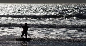 Acción de la playa Imagenes de archivo