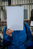 Acción de la protesta Imagen de archivo libre de regalías