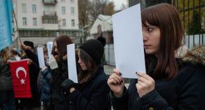 Acción de la protesta Fotografía de archivo