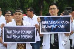 Acción de la protesta de los médicos Imagen de archivo