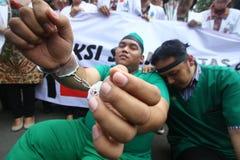 Acción de la protesta de los médicos Foto de archivo libre de regalías