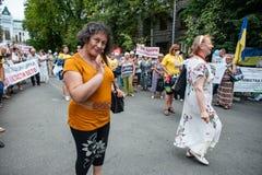 Acción de la protesta de los representantes del circo Fotos de archivo libres de regalías