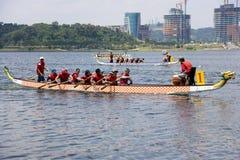 Acción de la raza de barco de dragón Imagen de archivo
