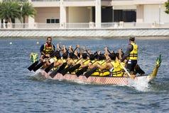 Acción de la raza de barco de dragón Fotos de archivo