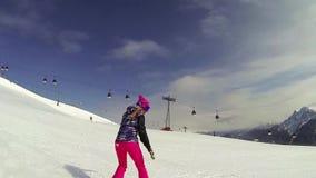 Acción de la snowboard metrajes
