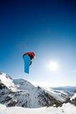 Acción de la snowboard Fotografía de archivo libre de regalías