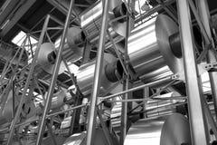 Acción de las bobinas de aluminio Imagen de archivo