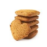 Acción de las galletas del pan de jengibre aisladas Fotos de archivo libres de regalías