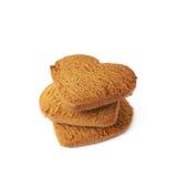 Acción de las galletas del pan de jengibre aisladas Foto de archivo libre de regalías